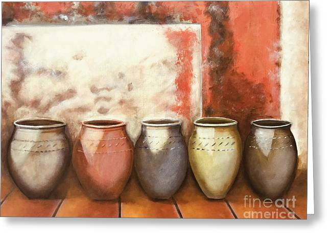 Pots In The Sun Greeting Card