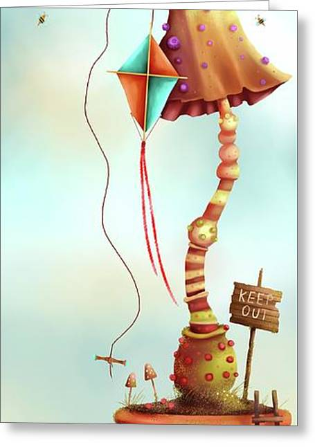 Trolls And Ladders.  Greeting Card