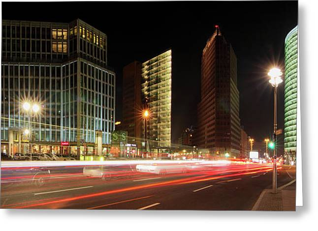 Berlin Germany Greeting Cards - Potsdamer Place Greeting Card by Marc Huebner