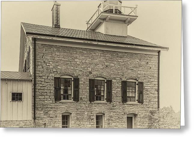 Pottawatomie Lighthouse 1836 Greeting Card by Jeffrey Ewig