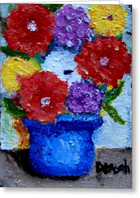 Potted Flowers Greeting Card