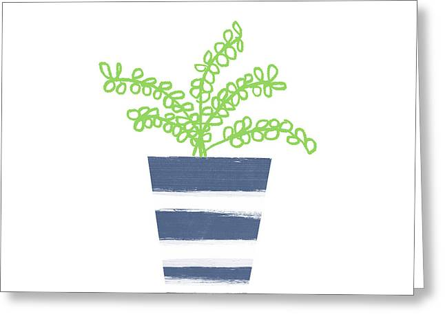 Potted Plant 1- Art By Linda Woods Greeting Card