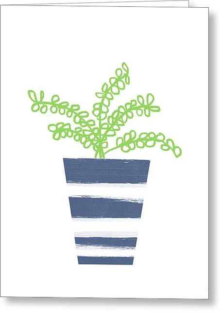 Potted Plant 1- Art By Linda Woods Greeting Card by Linda Woods