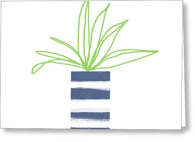 Potted Plant 2- Art By Linda Woods Greeting Card