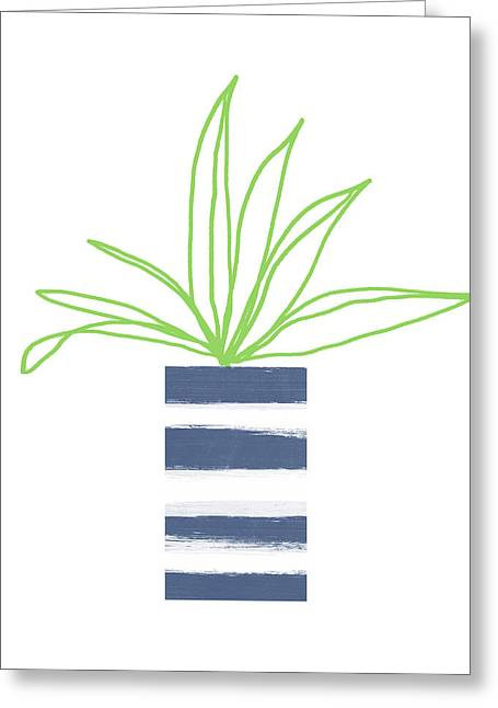 Potted Plant 2- Art By Linda Woods Greeting Card by Linda Woods