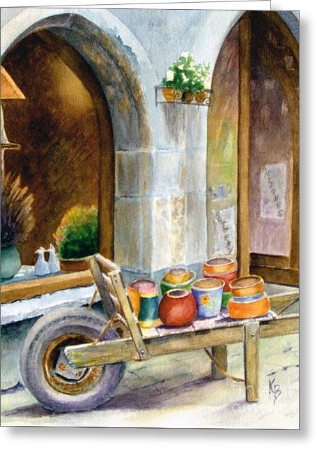 Pottery Cart Greeting Card