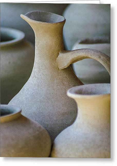 Pottery Greeting Card by Holly Ross