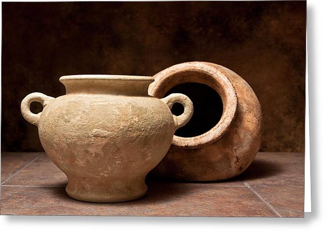 Pottery II Greeting Card by Tom Mc Nemar