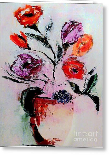 Pottery Plants Greeting Card by Lisa Kaiser