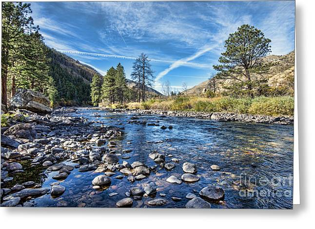 Poudre River Rocks Greeting Card by Keith Ducker