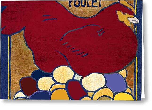 Poulet II Greeting Card by Mindy Sommers