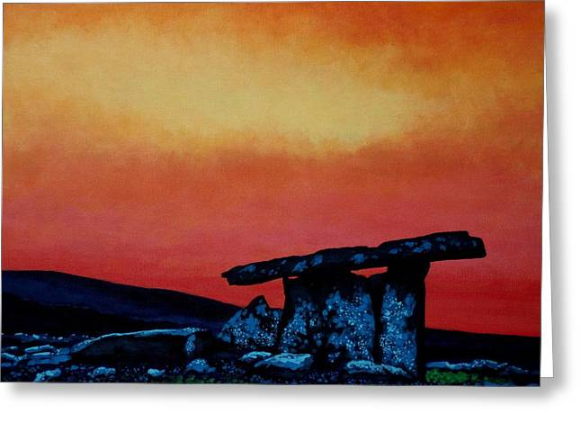 Poulnabrone Dolmen Ireland Greeting Card by John  Nolan