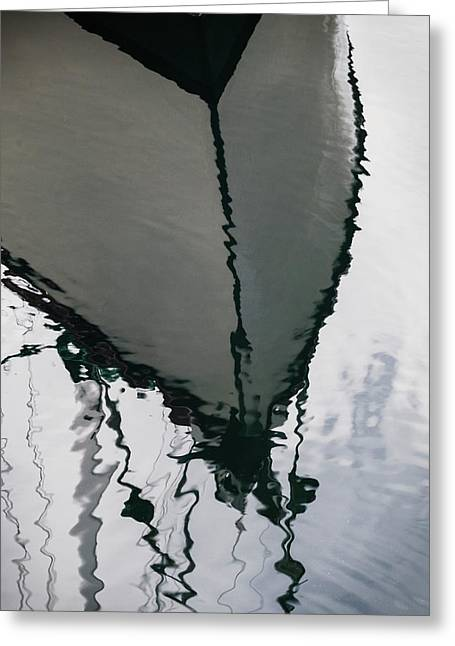 Poulsbo Boat Abstract Greeting Card