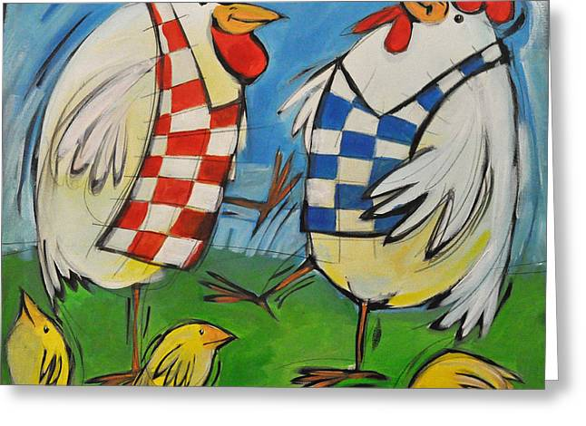 Poultry In Motion Greeting Card by Tim Nyberg