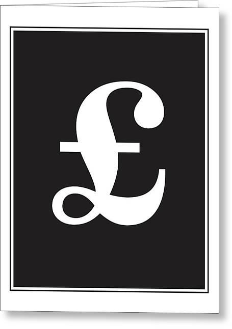 Pound Symbol  Greeting Card