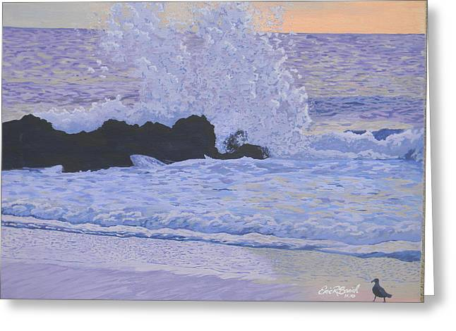 Pounding Surf Greeting Card by Eric Barich