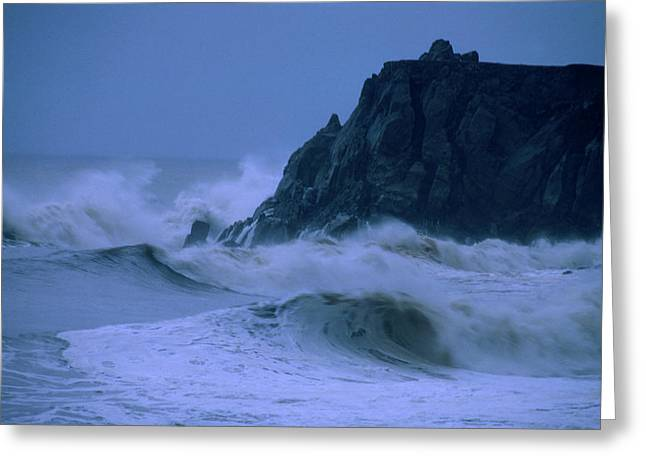 Pounding Surf - Pacific Coast Highway Greeting Card