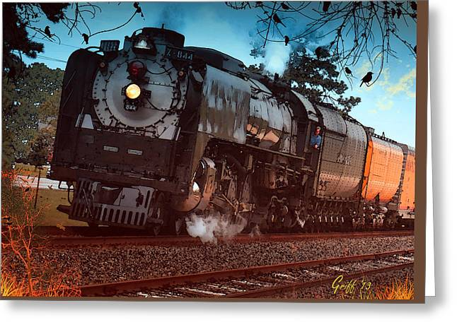 Pounding Up The Texas Grade Greeting Card by J Griff Griffin