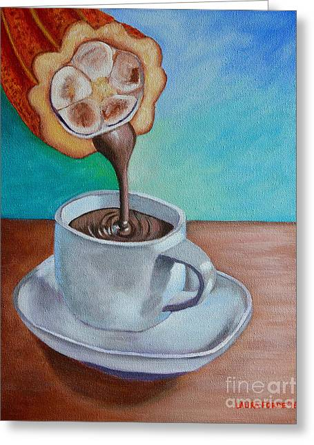 Pour Me A Cup Of Chocolate Please. Greeting Card