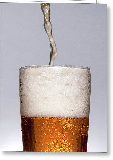 Pouring Beer Greeting Card