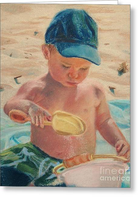Pouring Sand Greeting Card by Lisa Pope