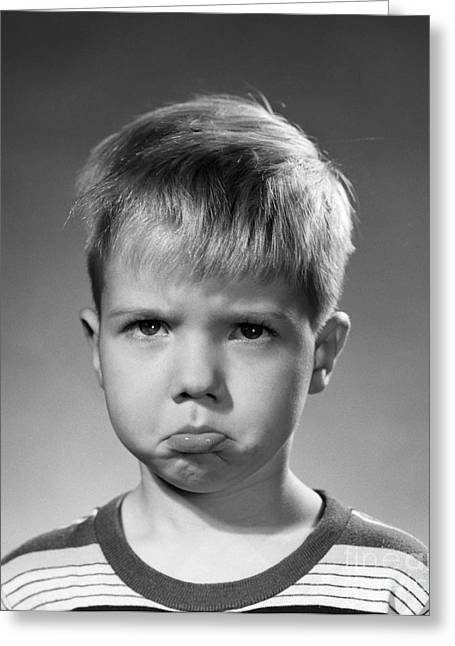 Pouting Boy, C.1950s Greeting Card by Debrocke/ClassicStock