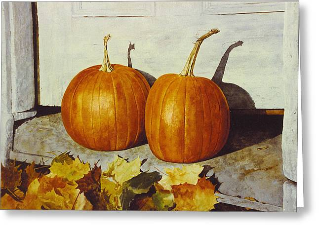 Povec's Pumpkins Greeting Card