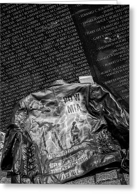 Pow Mia Never Forget Greeting Card by Sennie Pierson
