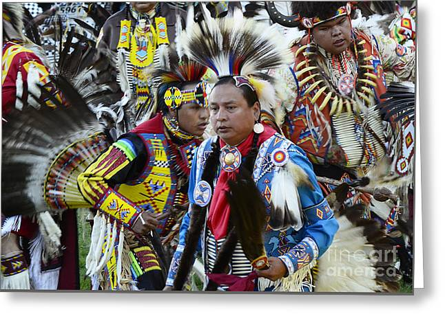 Pow Wow Back In Time 1 Greeting Card