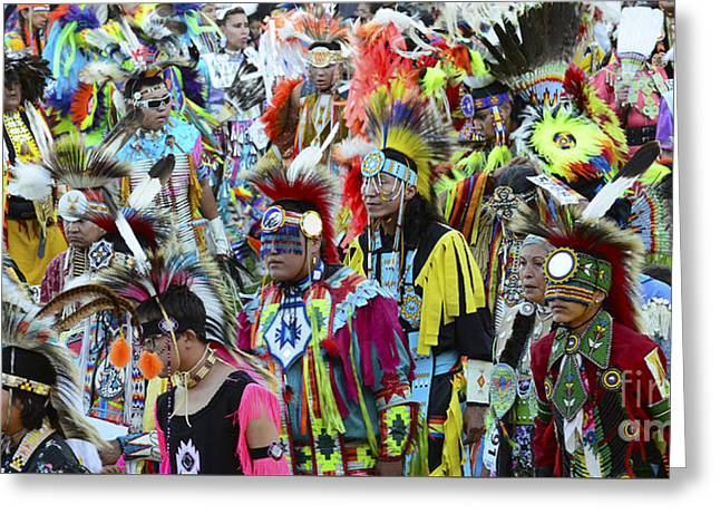 Pow Wow Beauty Of The Past 4 Greeting Card by Bob Christopher
