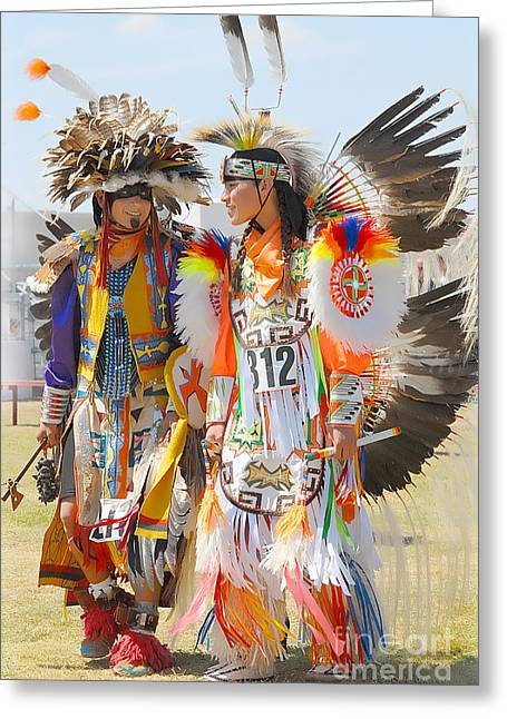 Pow Wow Contestants - Grand Prairie Tx Greeting Card by Dyle   Warren