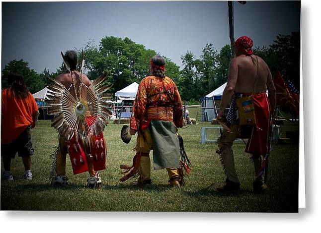 Pow Wow Greeting Card by Vijay Sharon Govender