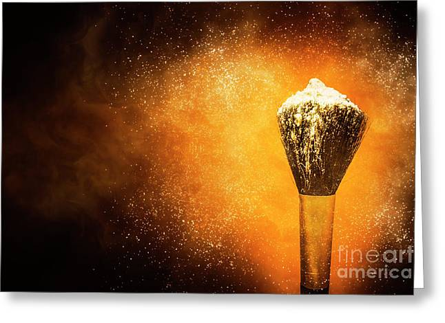 Powder Beauty Brush Greeting Card by Jorgo Photography - Wall Art Gallery
