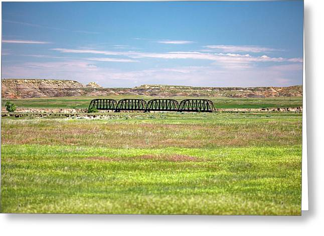 Powder River Bridge Greeting Card