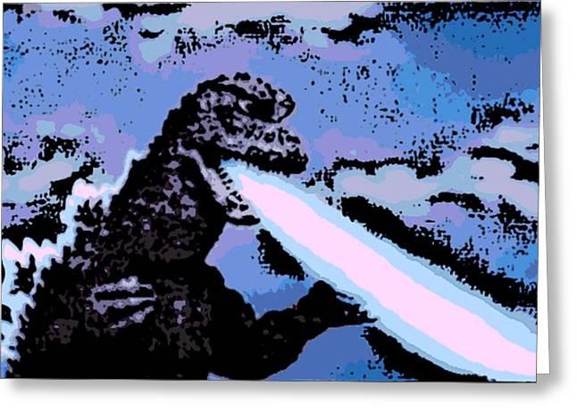 Power Blast Greeting Card by George Pedro