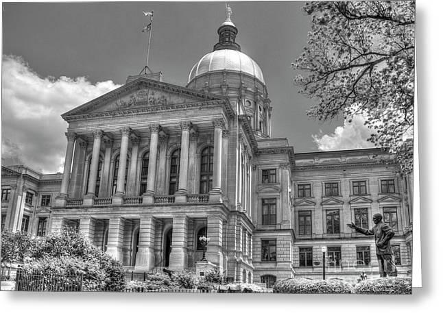 Power House 4 Bw Georgia State Capital Art Atlanta Ga Art Greeting Card