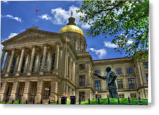 Power House Two Georgia State Capital Atlanta Ga Art Greeting Card