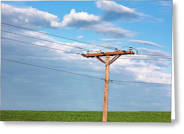 Power Line Pylon Greeting Card by Todd Klassy