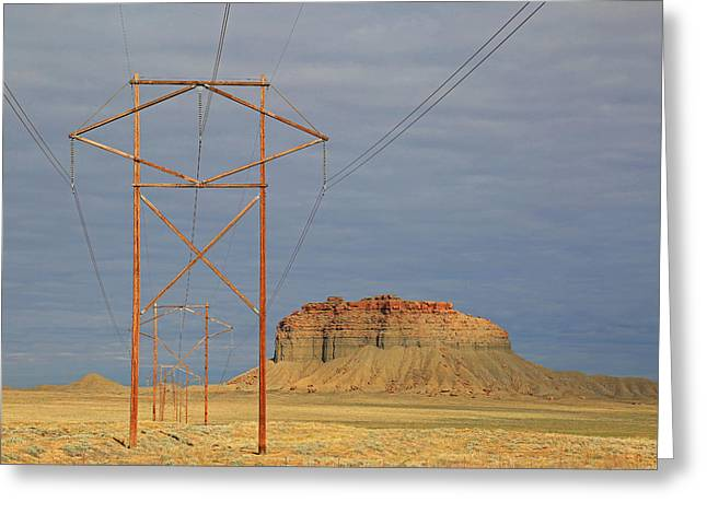 Power Lines Greeting Card by Donna Kennedy