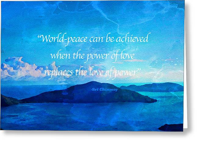 Power Of Love Greeting Card by Joan Reese