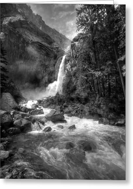 Power Of Water Greeting Card by Edward Kreis