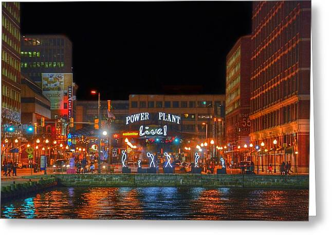 Power Plant Live In Baltimore Greeting Card by Marianna Mills