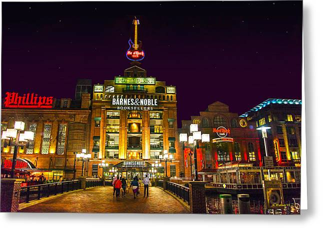 Power Plant - Night Greeting Card by Brian Wallace