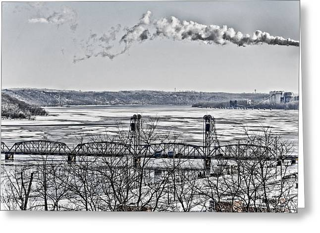Power Plant Greeting Card by Roderick Bley