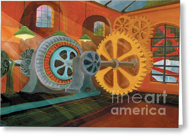 Power Plant Turbines Greeting Card