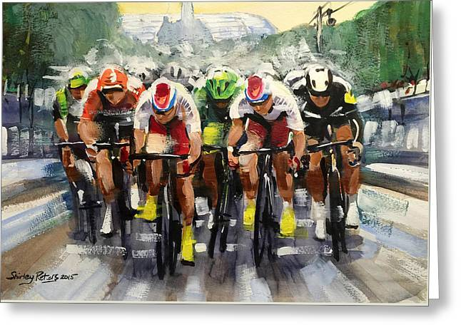 Power Sprint Stage 21 Greeting Card