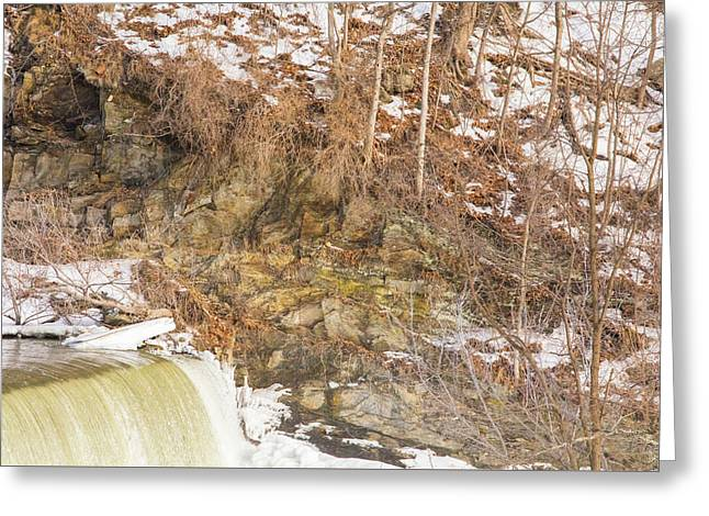 Power Station Falls On Black River Four Greeting Card