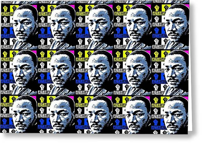 Power To The People Tiled 2-mlk Greeting Card