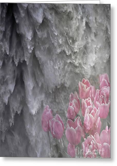 Greeting Card featuring the photograph Powerful And Gentle Waterfall Art  by Valerie Garner