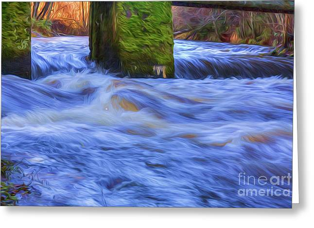Powerful Flow 2 Greeting Card